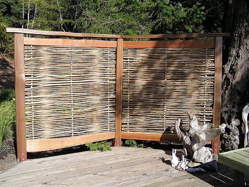 bamboo garden privacy screen Bamboo Privacy Screen - Thuja Wood Art - Reclaimed Cedar