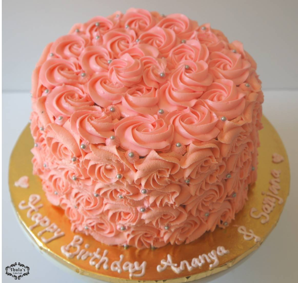 Rosette Cake Design : Pink Rosette Cake Tutorial Thula s Cake Lab