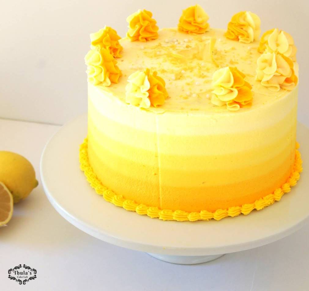 Lemon Cake with Cream Cheese frosting | Thula's Cake Lab