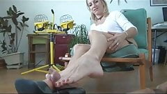 My Cock Loves Her Milf Toes Footjob Shoejob 2