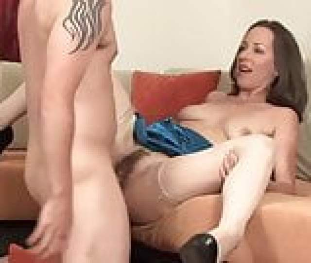 Skinny Milf Cougar In Stockings Take A Great Facial