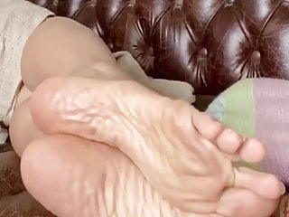 Asian old toes soles