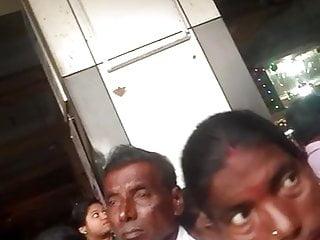 Weak groper groping&shing cock into aunty ass in crowd part-1