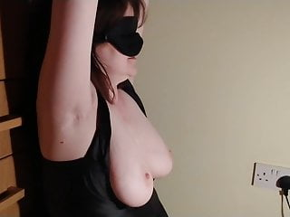 Lover tied and blindfolded lockdown blow job