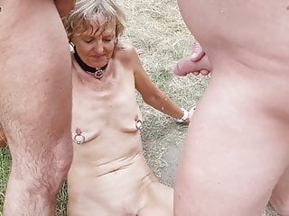 granny earns piss