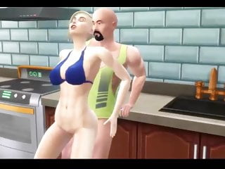Sims 4 – Busty mom gets creampied in the kitchen