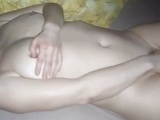 My nude wife pleasing herself