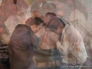 Thick Dutch horny mom Fetches A 3some Arousement Session