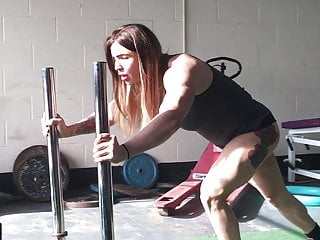 Tabbyanne hot liverpool thong public fitness center exercise