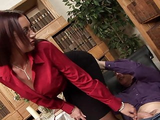 Immense jugs horny milf psychologist takes the huge shaft of Affected person