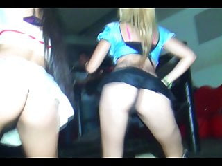 Younger Teenagers Displaying Her Asses At The Disco