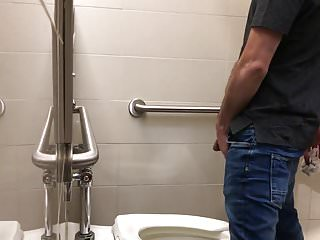 Caught - Pissing in the public toilet (big black cock)