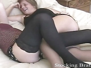 We're having a lot enjoyable in our erotic little stockings