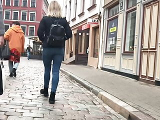 Latvian holidays – Blonde with good ass on tour