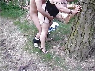 Great grandma finds fucked from behind within the woods
