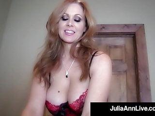 Astonishing Face Fucking Julia Ann Slurps Your Arduous Shaft POV!