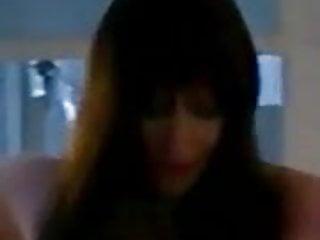 Nikki Klass posing in dark skinned stockings