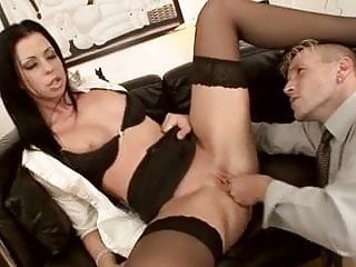 Secretary Larissa Dee Black Stockings Fucking
