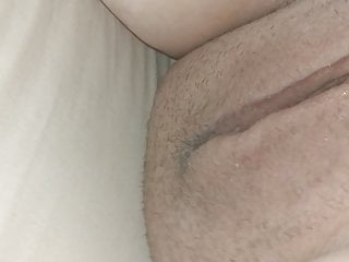 Wifes curvy vagina from behind