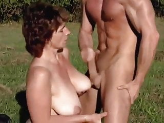 Milf outside fuck by a younger man