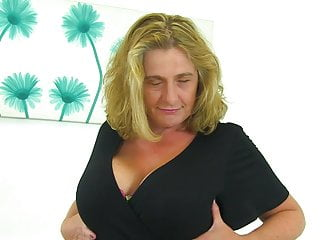 Yummy horny mommy with mega big and pure knockers