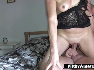 Threesome with nympho milf that gets cum in mouth after DP