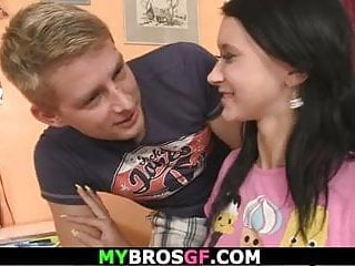 He seduces hot-looking brunette teenager into dishonest intercourse