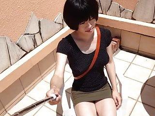 crossdresser in mini skirt (taken with smartphone)