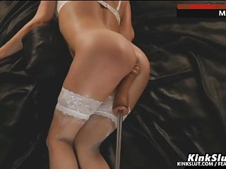 MAX SPEED!!!!!WIFE SQUIRTING ORGASMS ON FUCKING MACHINE