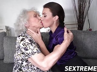 Younger babe and senior lady are two nasty lesbian women