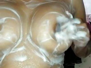 pleasing indian whore bathing