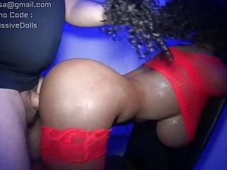 Ebony Intercourse Doll Ass Doggy Loud Moaing getting white shaft