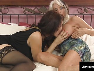 Massive Titty Milfs Charlee Chase & Sally D'Angelo Suck A Penis!