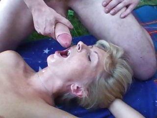 German hot mom Moni – Half Ten