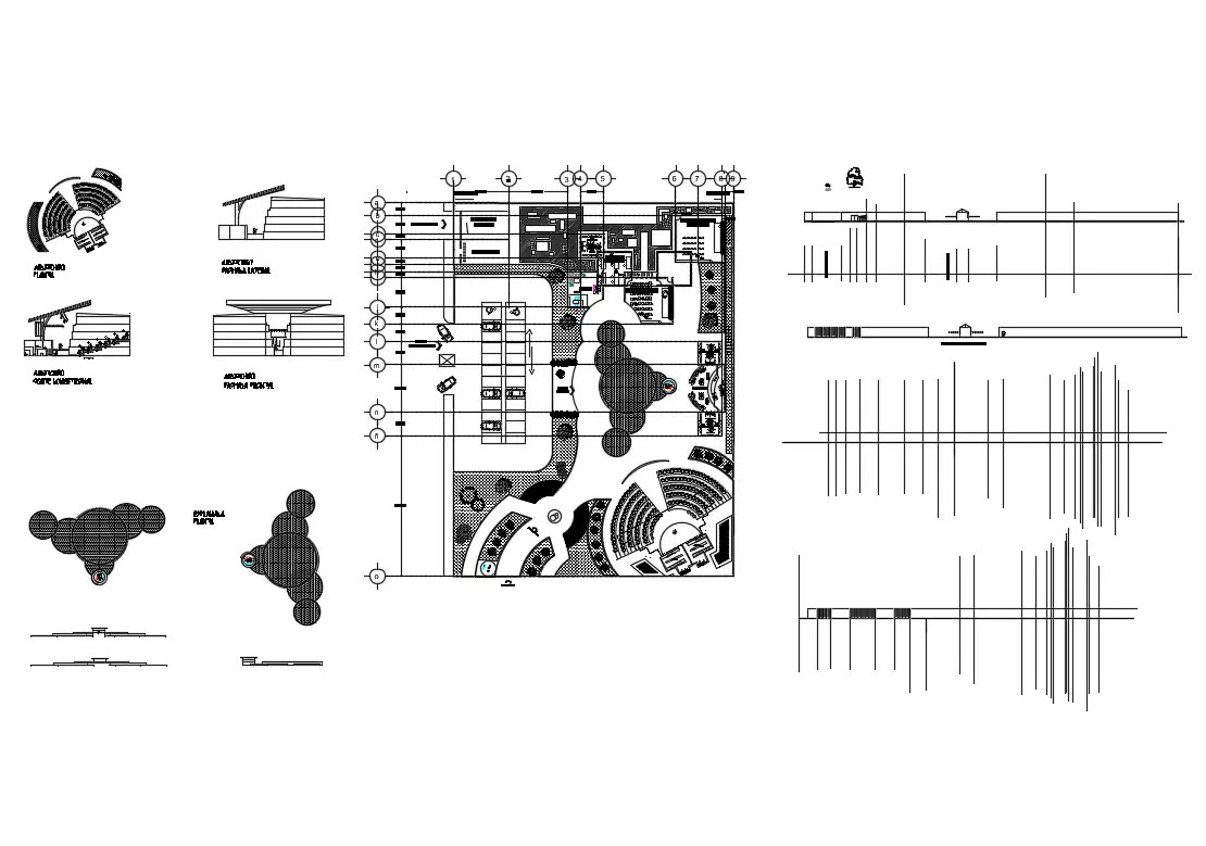 Consultant Center Elevation Section Plan And Auto Cad