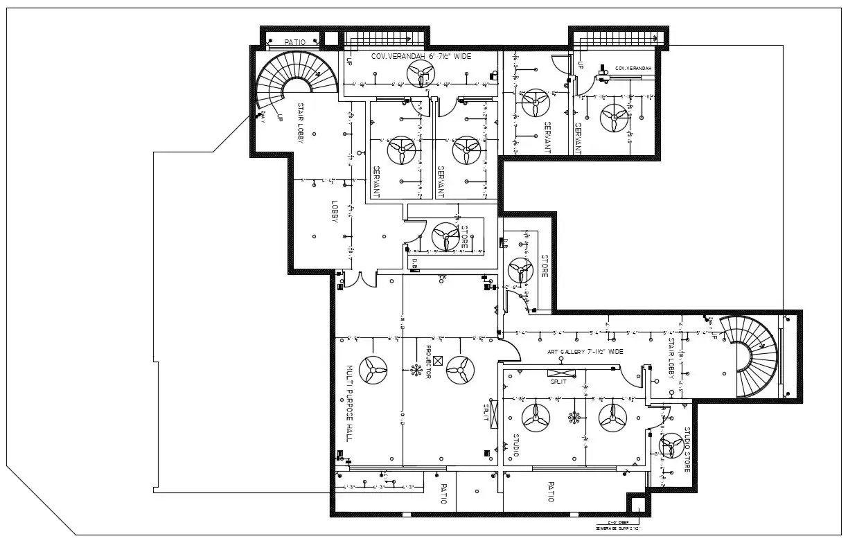 Electrical Ceiling Layout Plan