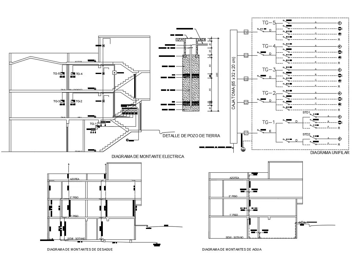 Electrical Circuit Diagram Dwg File