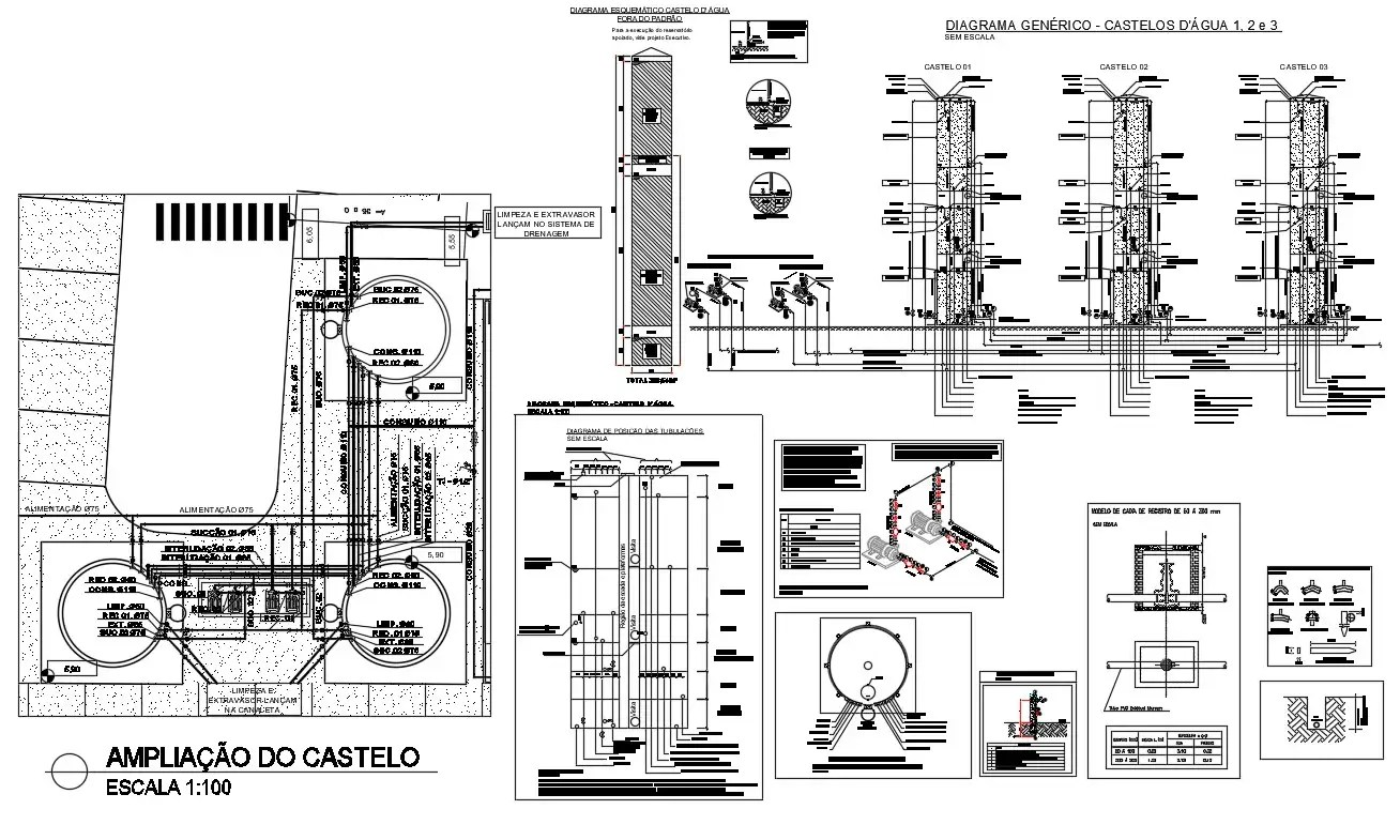 Industrial Water Distribution Tank And Units Design Layout