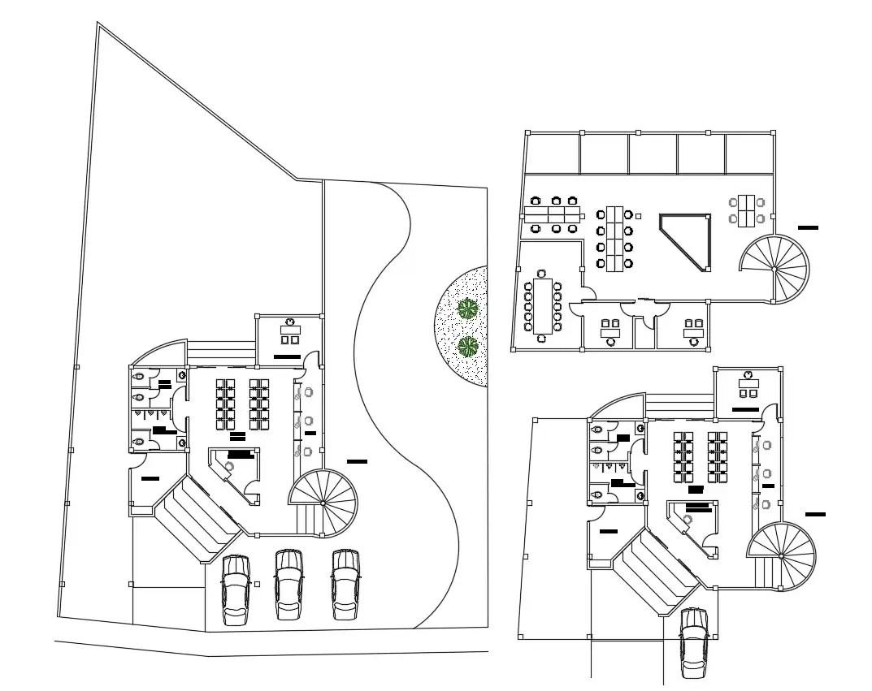 Office Floor Plan Samples Cad File