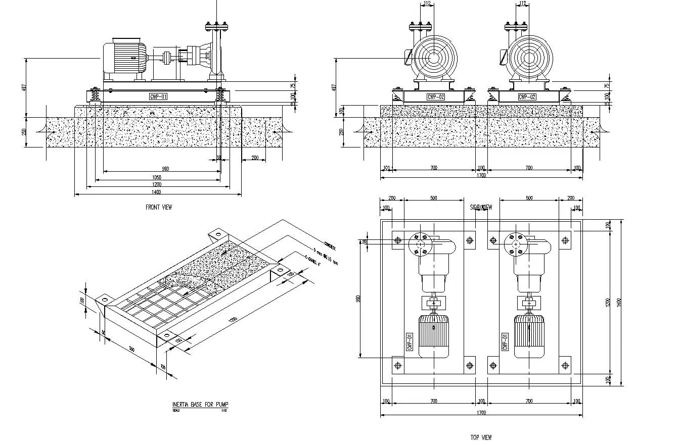 Pump Room Plan Detail Dwg File