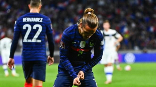 Antoine Griezmann dalam pertandingan Timnas Prancis vs Finlandia