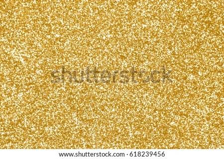 Elegant Gold Glitter Sparkle Confetti Background Stock