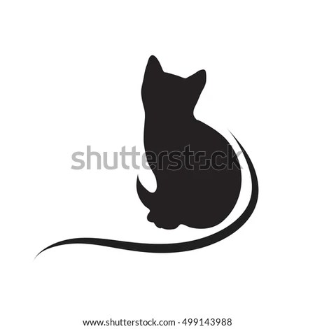 Download Silhouette Cat Couple Love Shape Heart Stock Vector ...