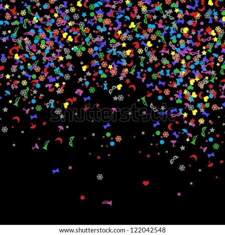 confetti new year backgrounds