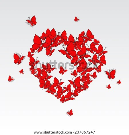 Butterfly Heart Stock Images Royalty Free Images