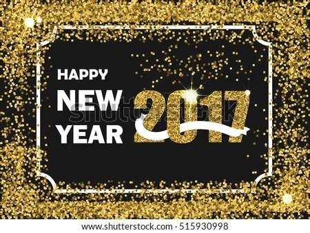 gliter new year border