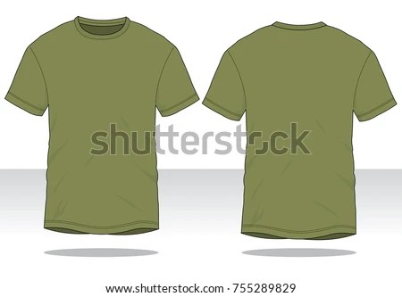 Olive Green T Shirt Template Stock Vector 755289829   Shutterstock Olive green t shirt for template