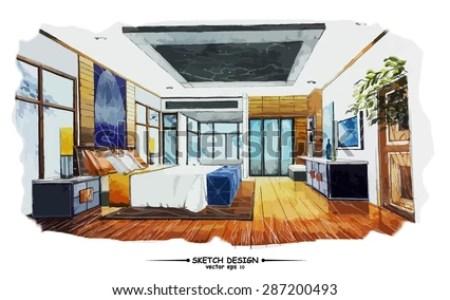 interior design bedroom sketches. Furniture Sketches Interior Design Ujecdent Com Furniture  Top Bedroom And Duplex