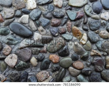 Pebble Stone Floor Tile Seamless Background Stock Photo  Edit Now     Pebble stone floor tile seamless background  Cement mixed gravel pebble  stone floor texture  Wet