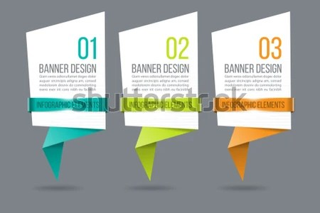 Infographics Design Vector Template Banner Step Stock Vector     Infographics design vector   Template for banner  step up options  diagram   workflow layout